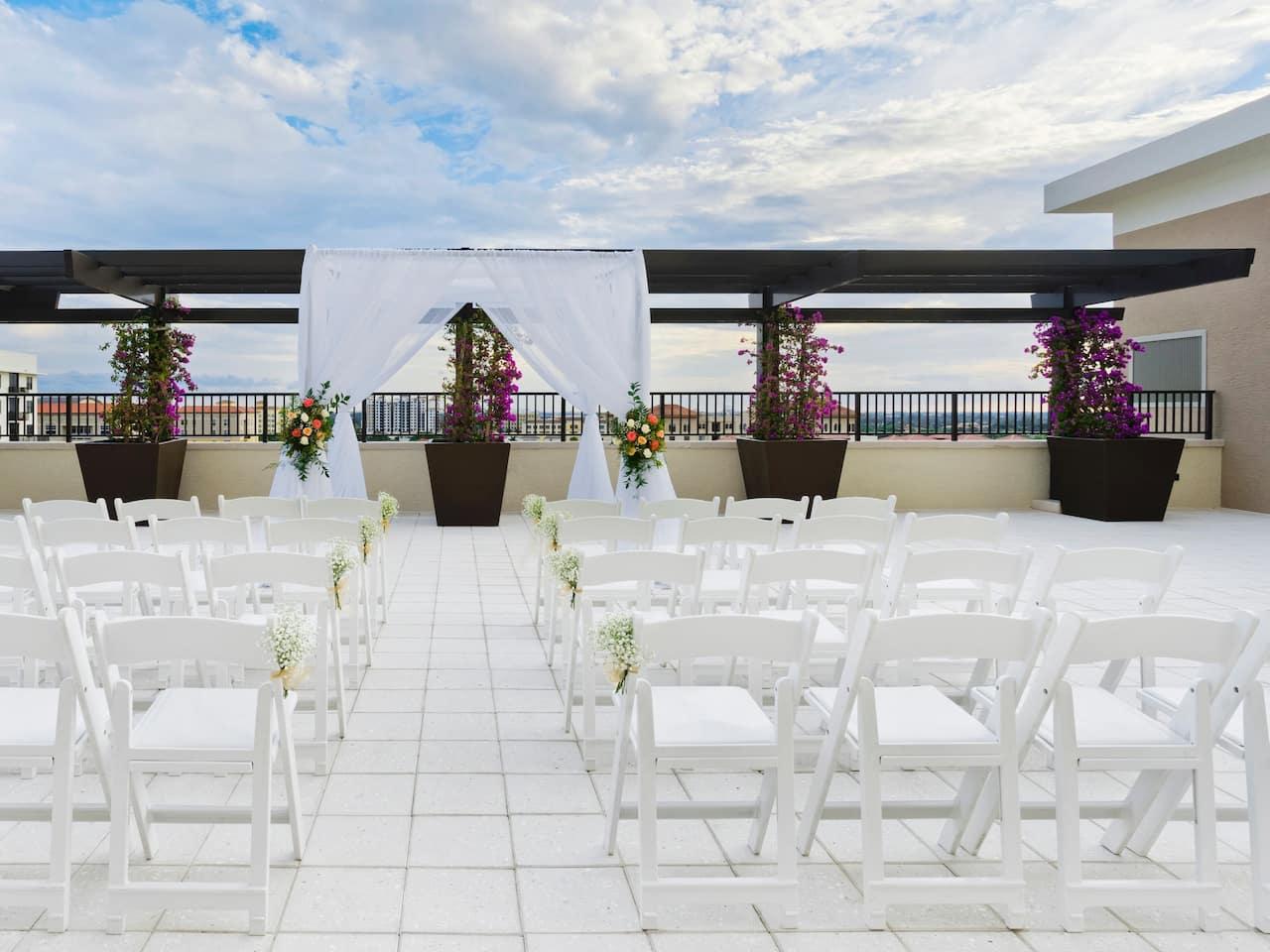 Outdoor Rooftop Wedding at Hyatt Place Boca Raton/Downtown