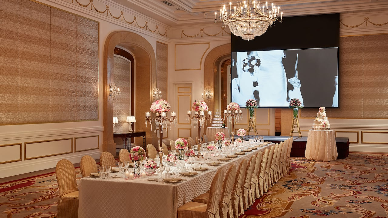 Weddings in Ho Chi Minh Vietnam (Park Hyatt Saigon Ballroom Wedding Venue)