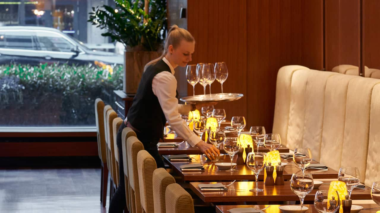 Serving Staff at the restaurant