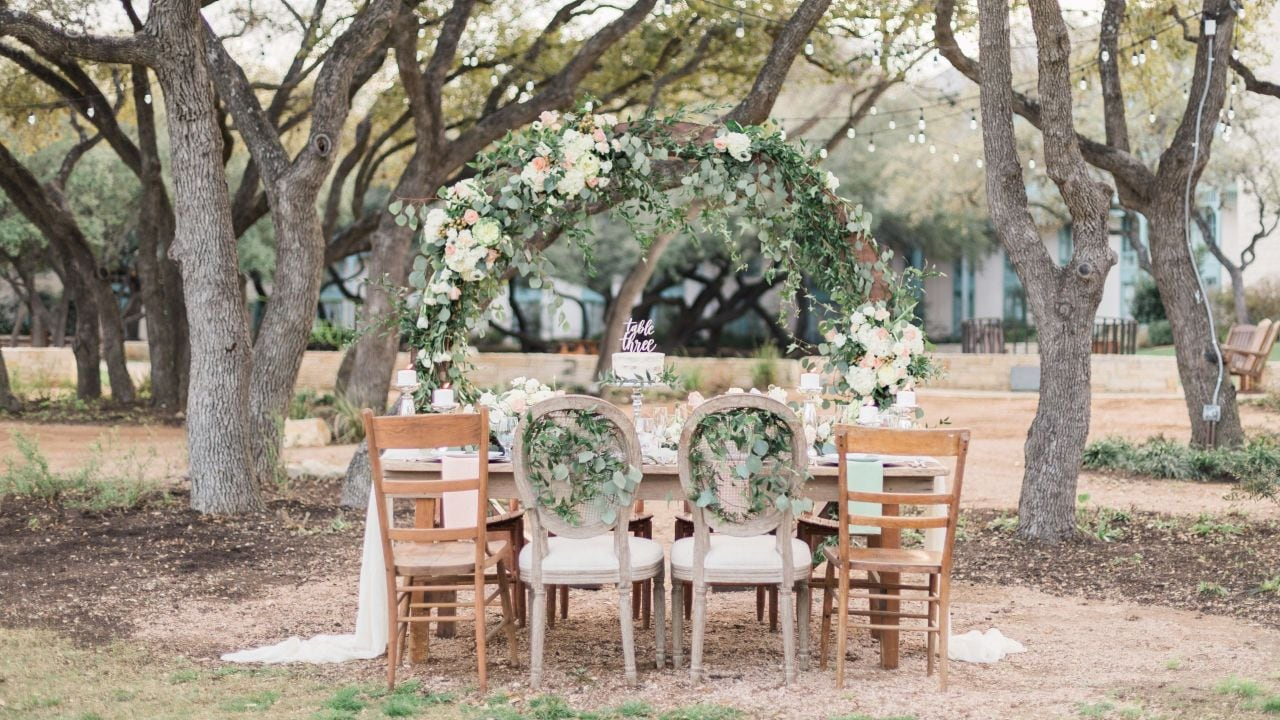 Henry's Hollow Wedding Reception Setup Landscape Hyatt Regency Hill Country Resort & Spa
