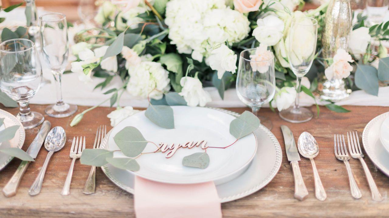 Henrys Hollow Wedding Reception Tableset Landscape