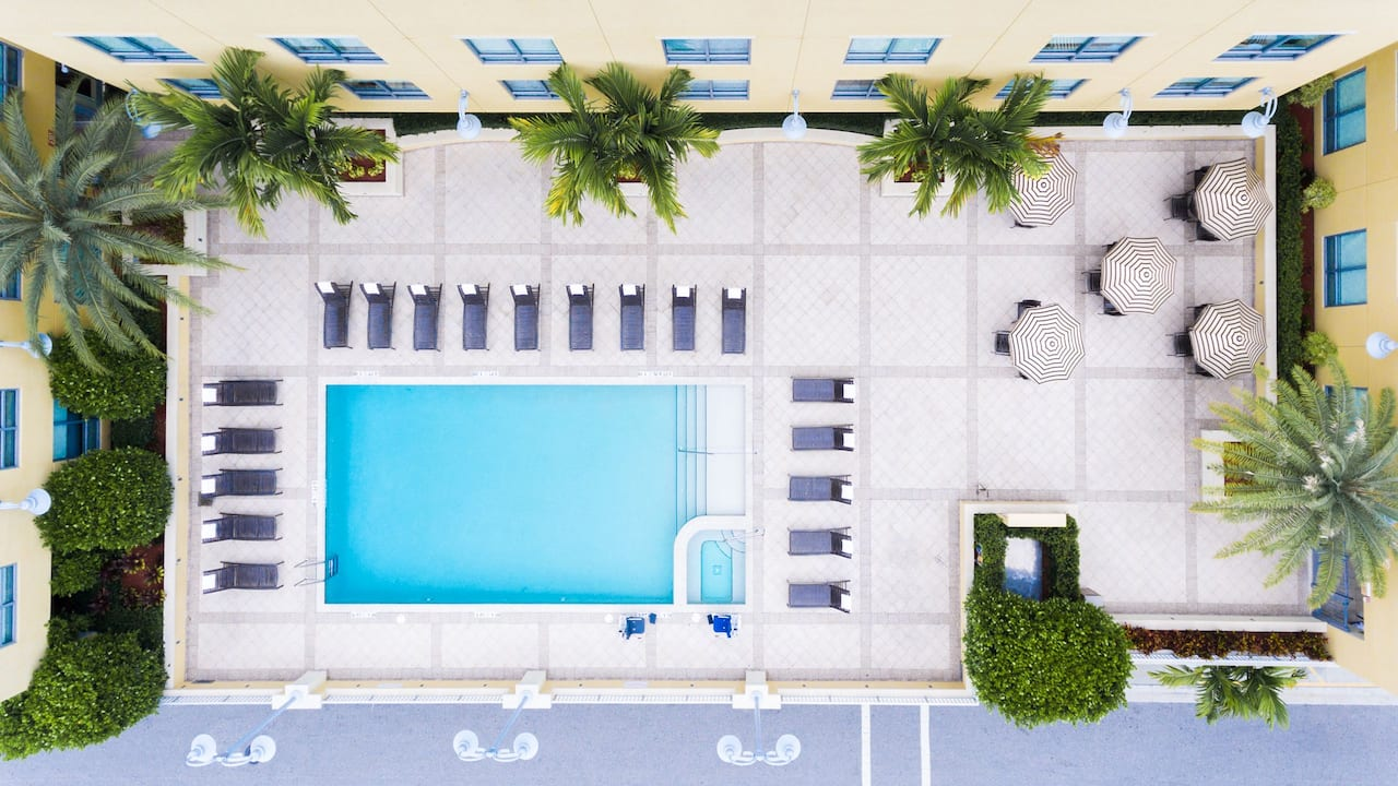Hyatt Place Delray Beach Pool Aerial View