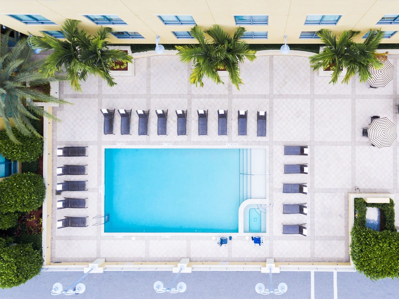 Hyatt Place Delray Beach Outdoor Pool Aerial View