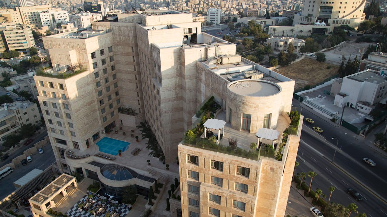 Birds eye exterior amman