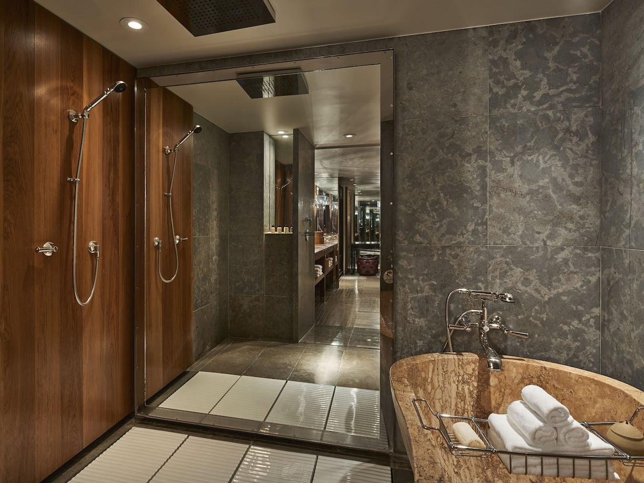Park Hyatt Washington D.C. Presidential Suite Shower Bathtub