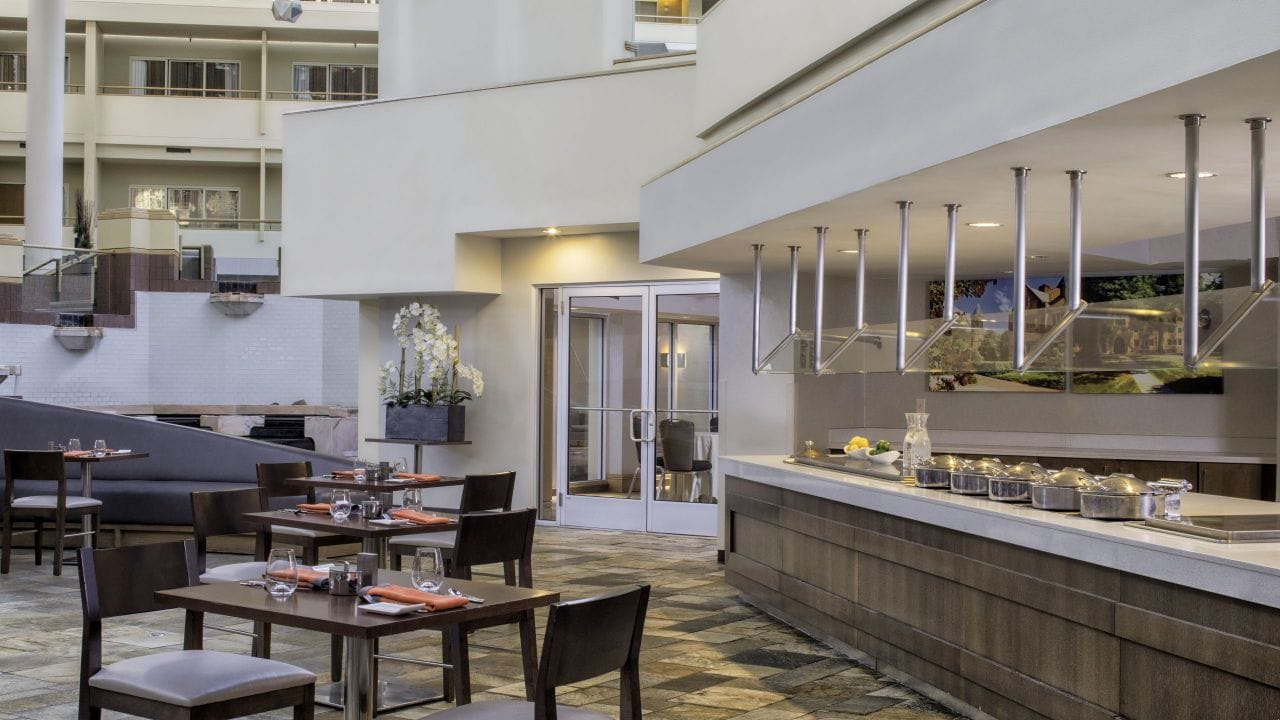 Atrium dining at Artisan Kitchen and Lounge