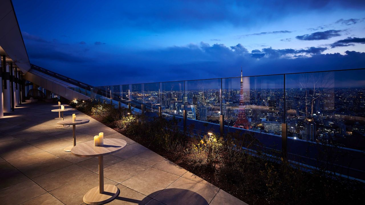 Andaz Tokyo Toranomon Hills, rooftop terrace