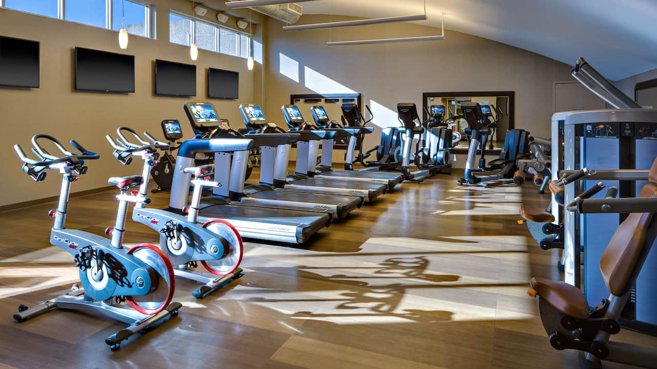 Gym inside Hyatt Regency San Antonio Riverwalk