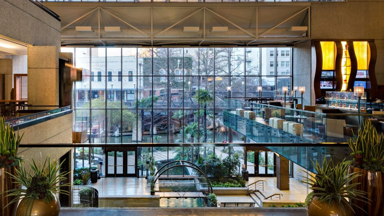 View of lobby from the atrium