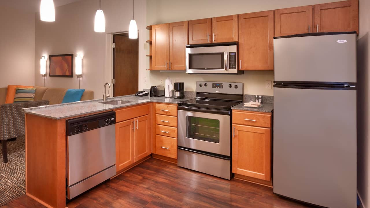 Two Bedroom Trio Suite – Fully-Equipped Kitchen – Hyatt House Hotel Salt Lake City/Sandy