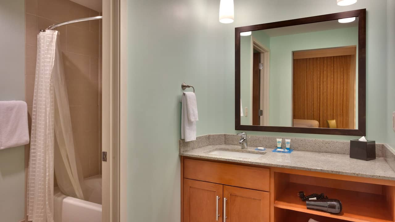 Two Bedroom Trio Suite – Bathroom with Shower – Hyatt House Hotel Salt Lake City/Sandy