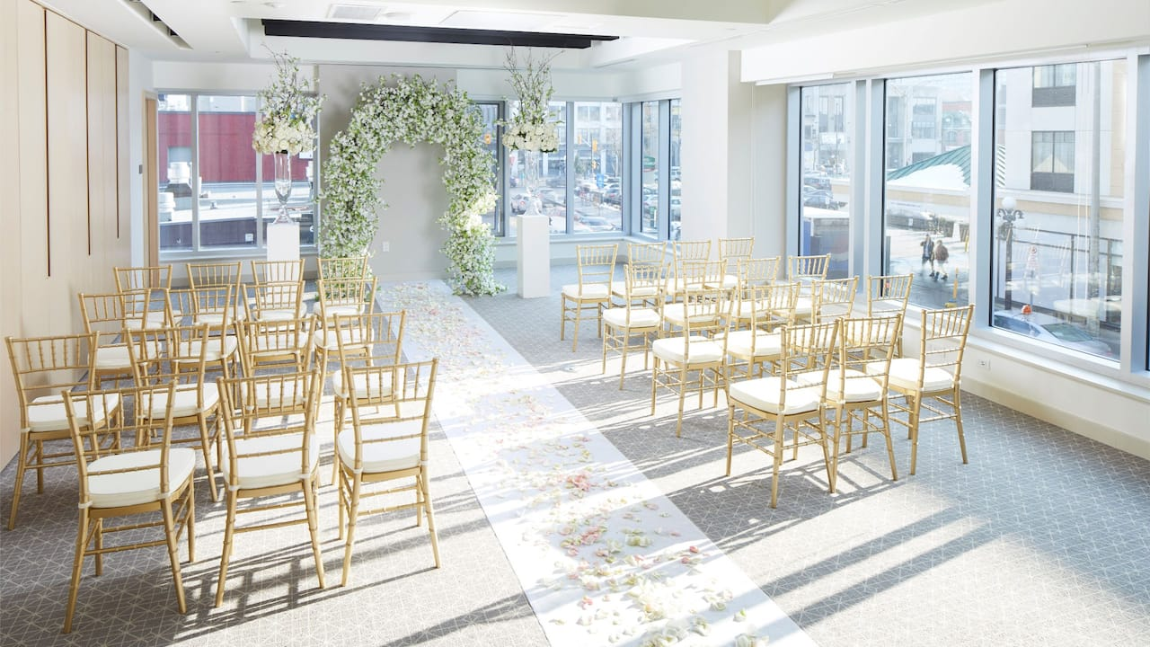 Andaz Ottawa Byward Market Wedding Ceremony Aisle