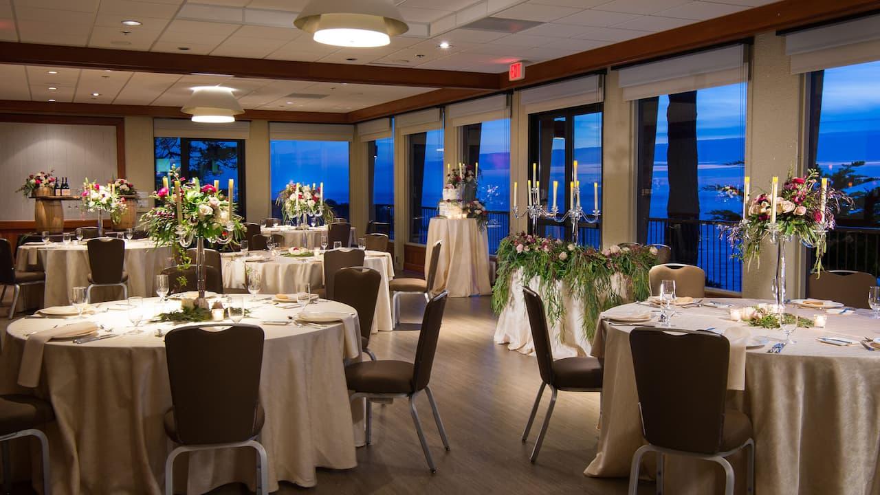Surf Room Wedding Setup