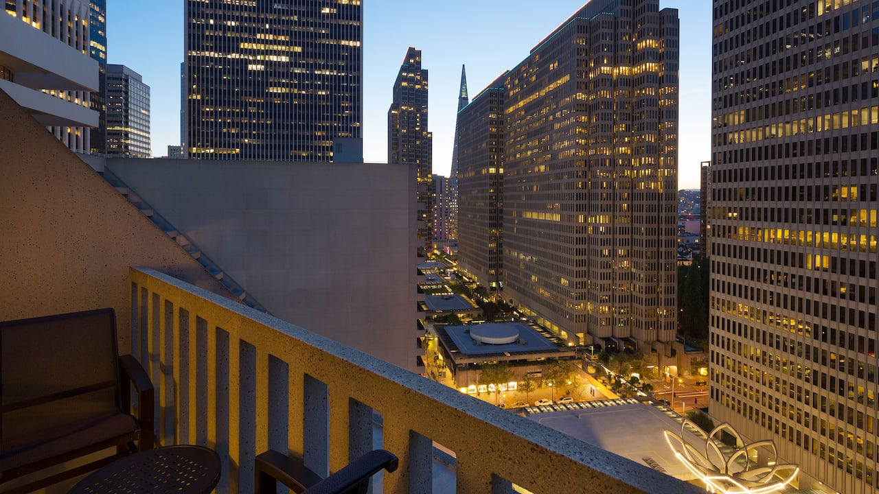 2 Double Beds City View Balcony Room Hyatt Regency San Francisco