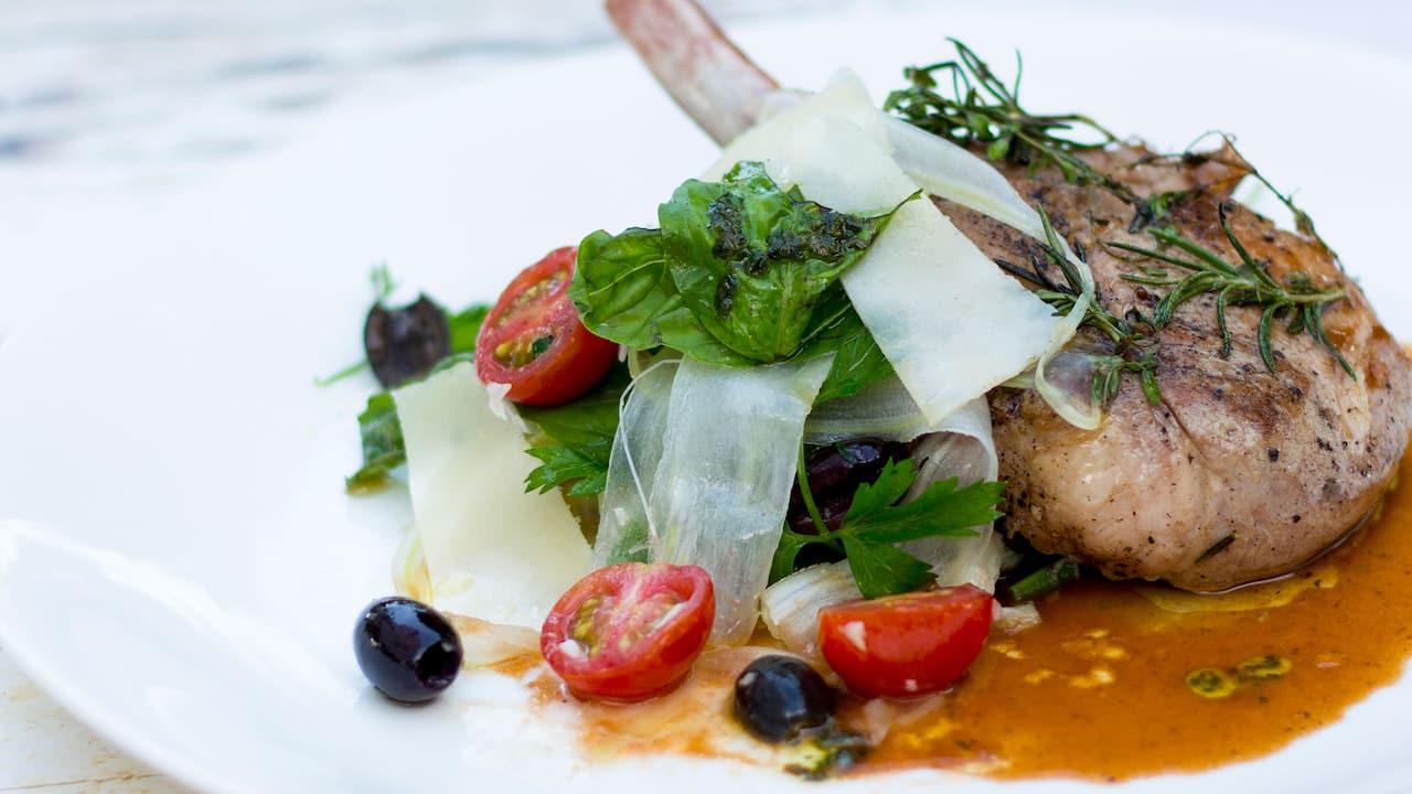 Salsa Verde Italian Restaurant Menu (Pan Seared Pork) - Grand Hyatt Bali