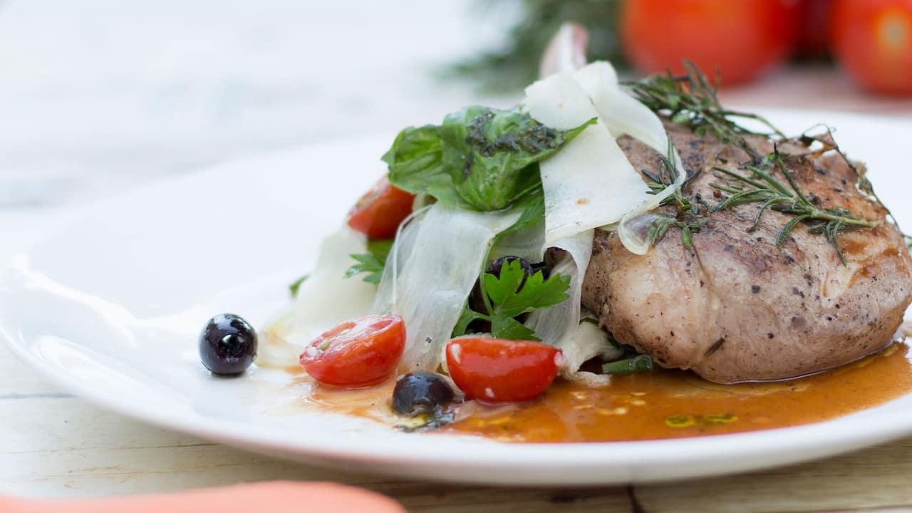 Salsa verde pork chop