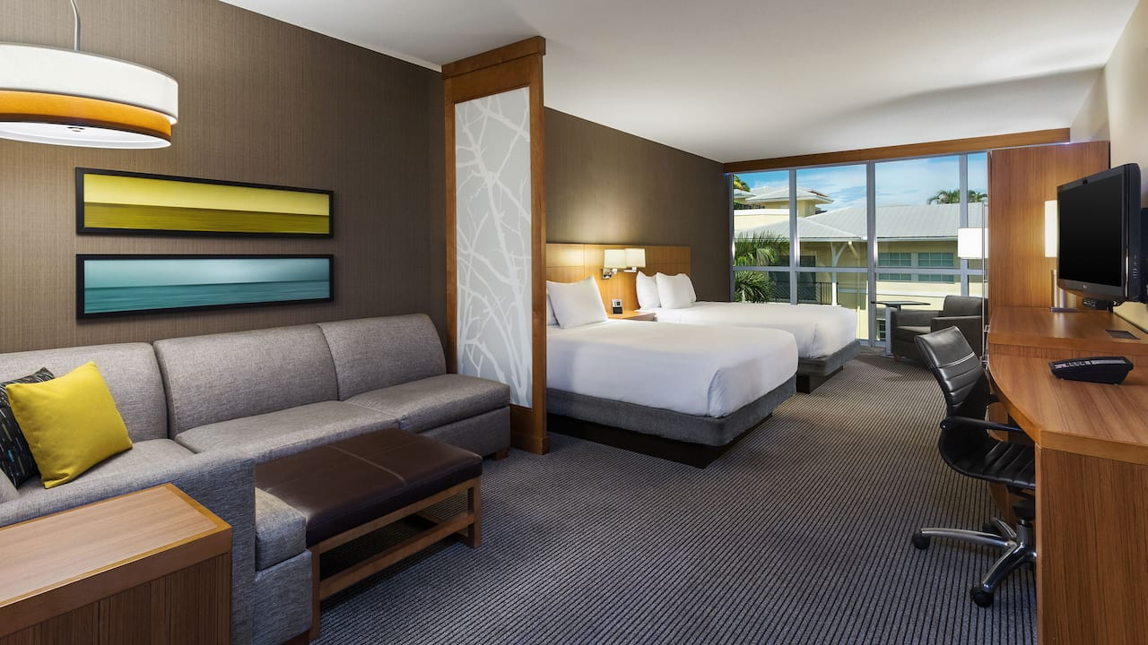Hyatt Place Delray Beach Two Queen Beds Room