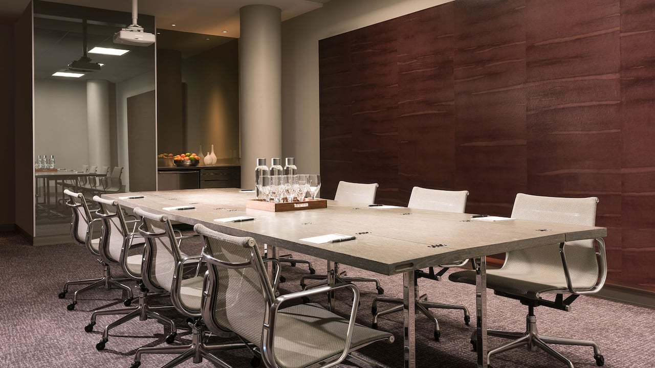 Conference Table in Boardroom with Projector Andaz West Hollywood