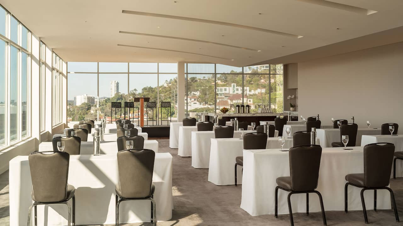 Meeting Room with View of Los Angeles Andaz West Hollywood