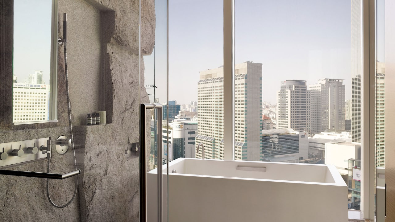 韩国首尔柏悦酒店客房-特大床