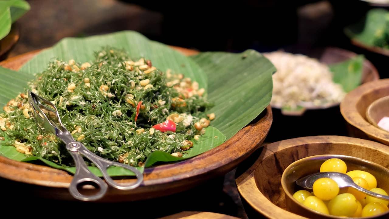 Indonesian food, and international menu of Pasar Senggol Restaurant Grand Hyatt Bali