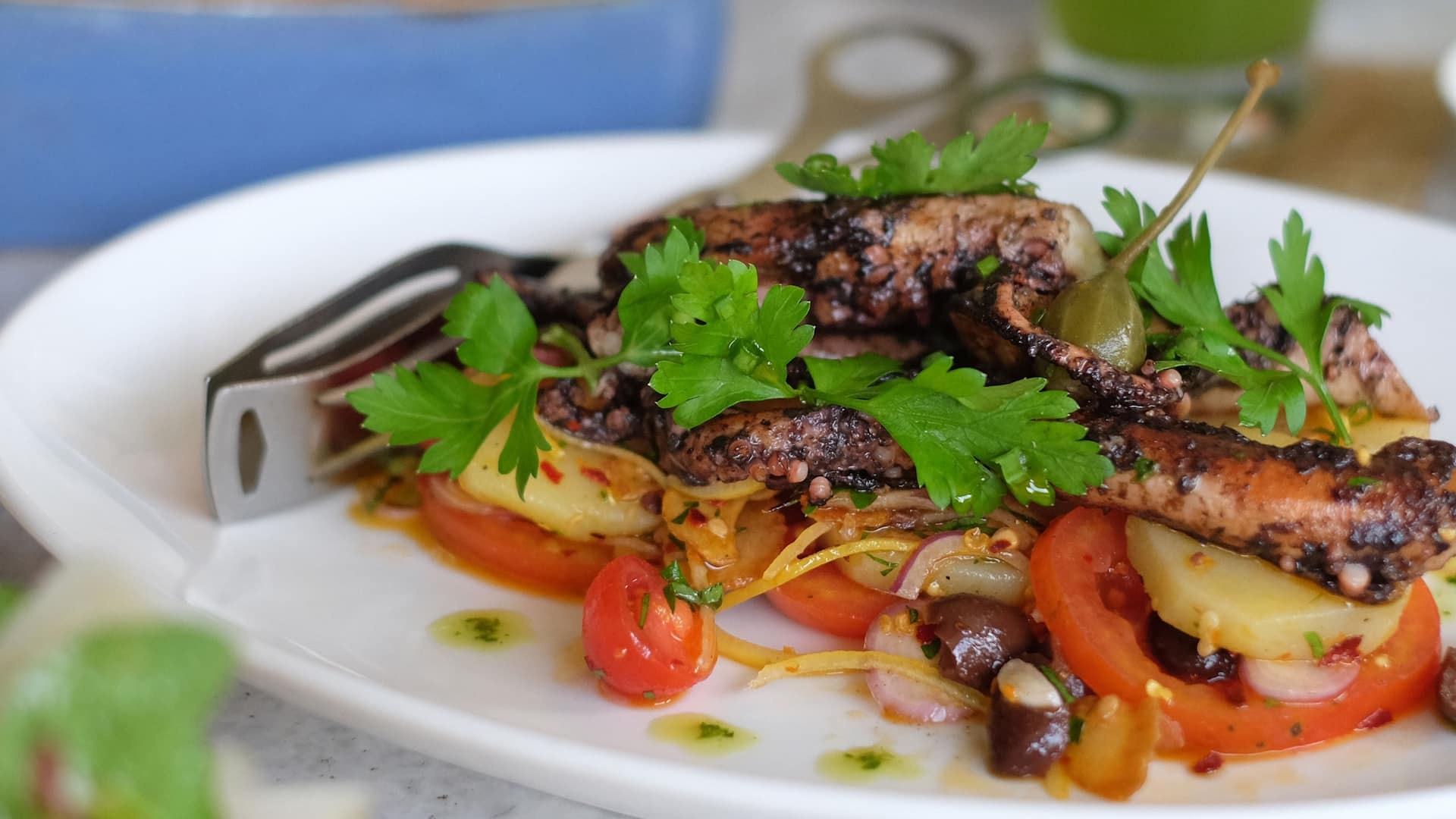 Salsa Verde Italian Restaurant (Octopus Salad Salsa Verde) - Grand Hyatt Bali