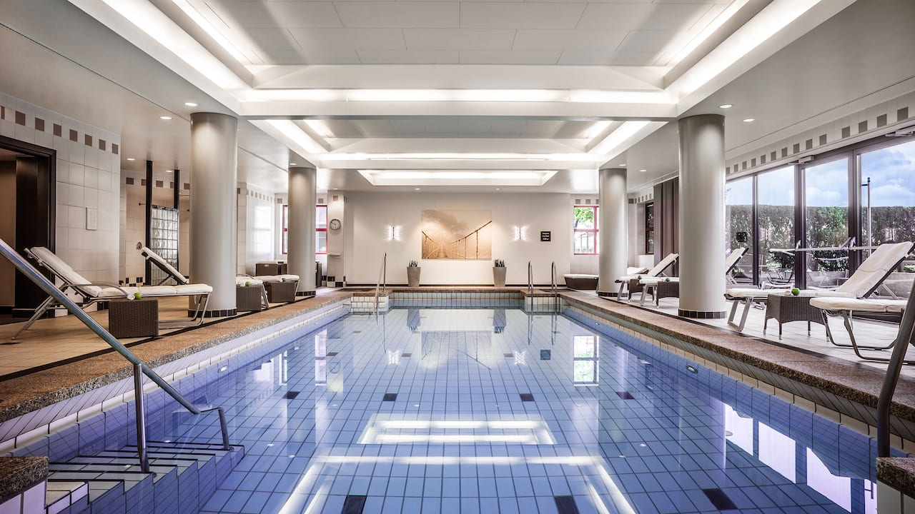 Indoor swimming pool at Hyatt Regency Cologne