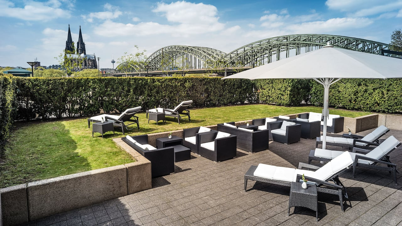 Sun Terrace at Hyatt regency Cologne