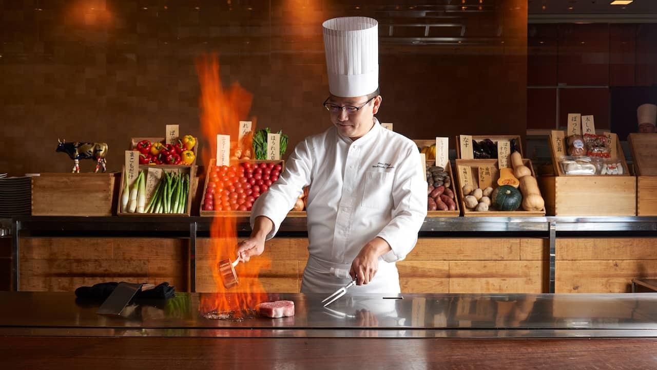 Grand Hyatt Tokyo Keyakizaka Chef グランド ハイアット 東京 鉄板焼 けやき坂 シェフ
