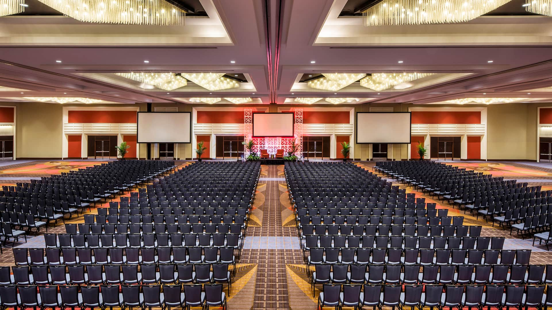 Grand ballroom theater at Hyatt Regency O'Hare in Rosemont, IL