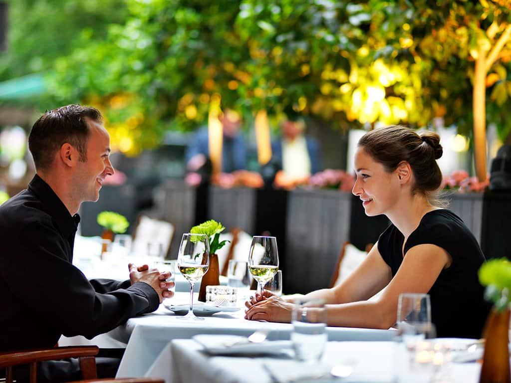 Sommerterrasse Vox Restaurant im Grand Hyatt Berlin