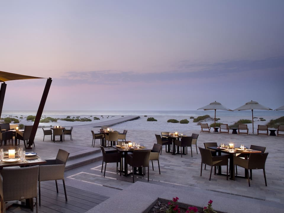 Beach House sunset candle light dining