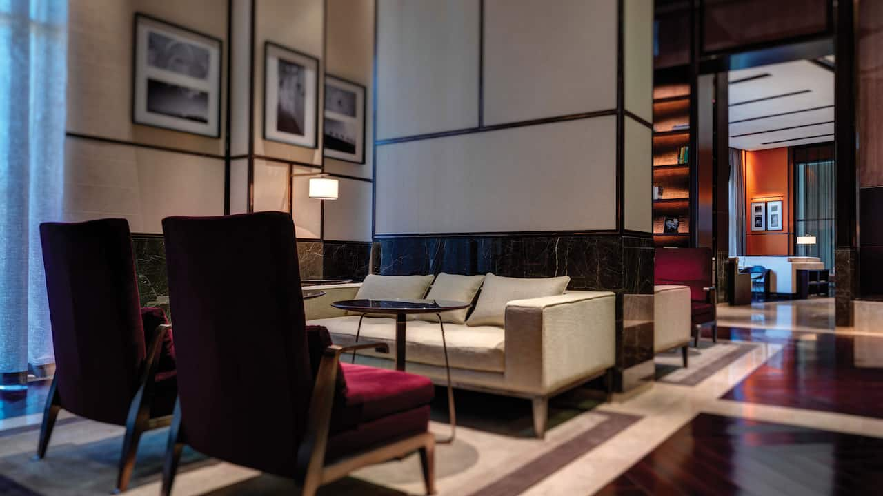 The Library lounge area