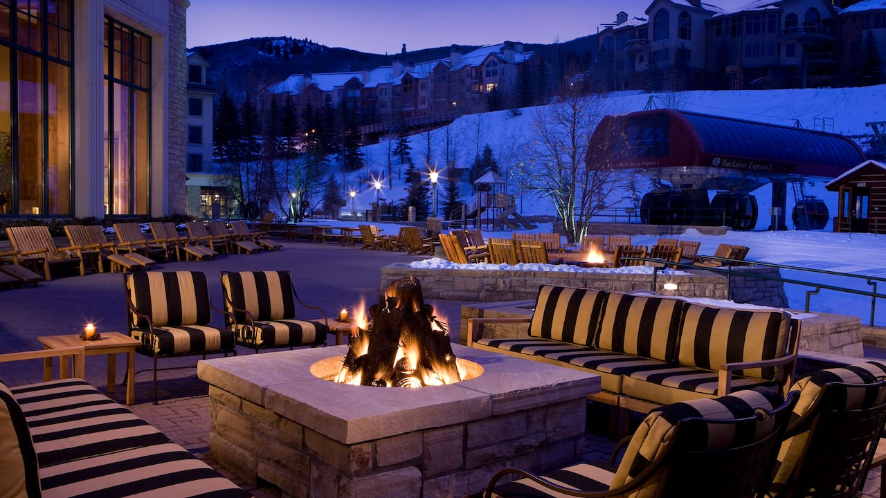 Park Hyatt Beaver Creek Outdoor Fire Pit