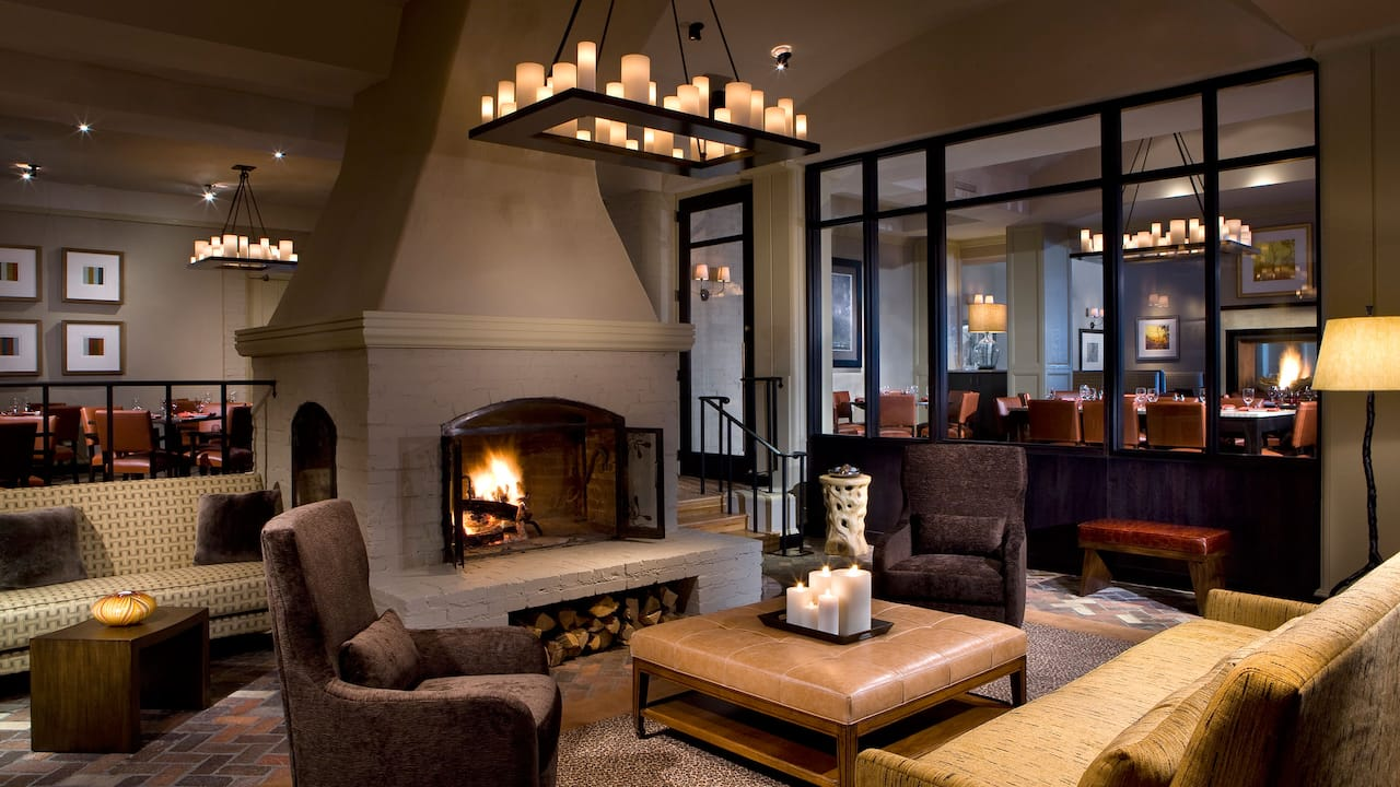 Park Hyatt Beaver Creek Fireplace and Seating