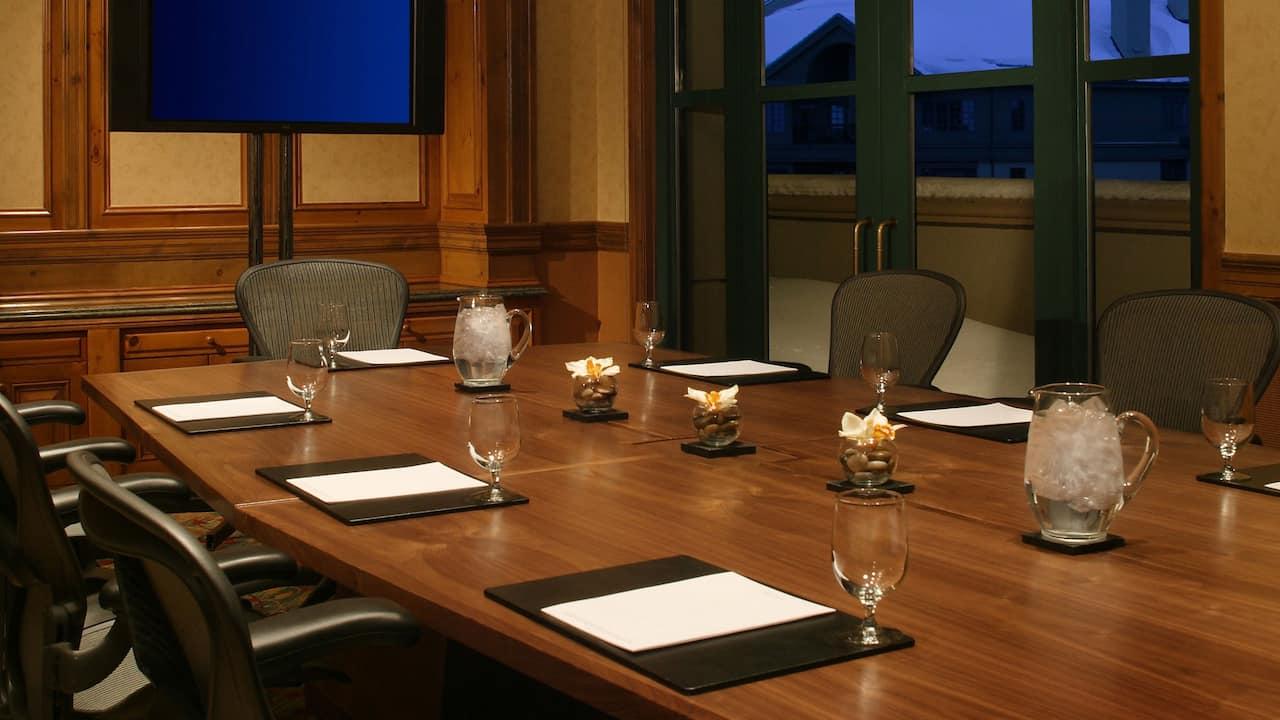 Boardroom Meeting Space Park Hyatt Beaver Creek Resort and Spa