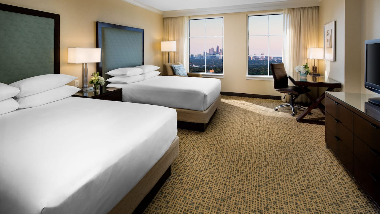 Double bed city view Grand Hyatt Atlanta