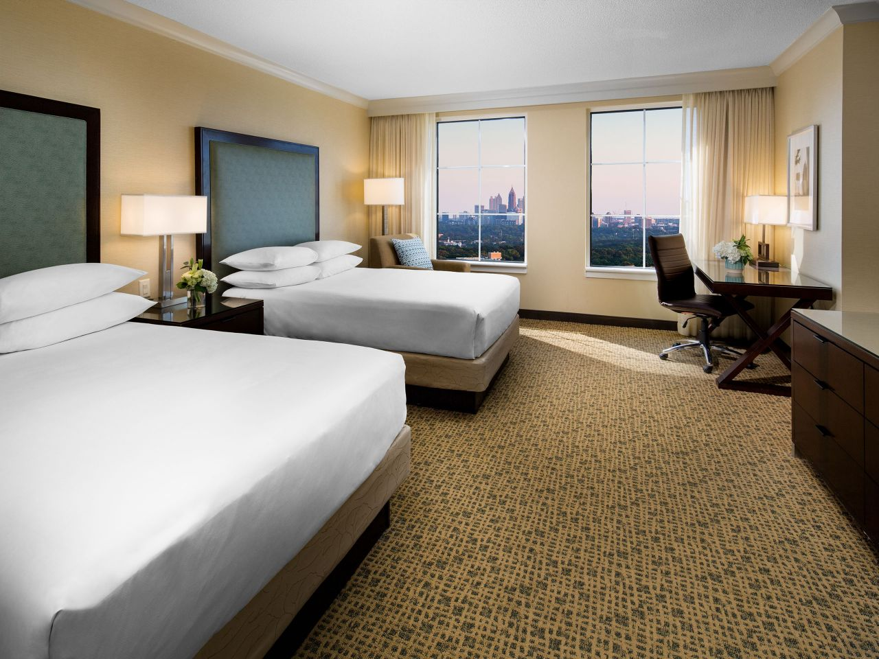 Room with double beds with city view Grand Hyatt Atlanta