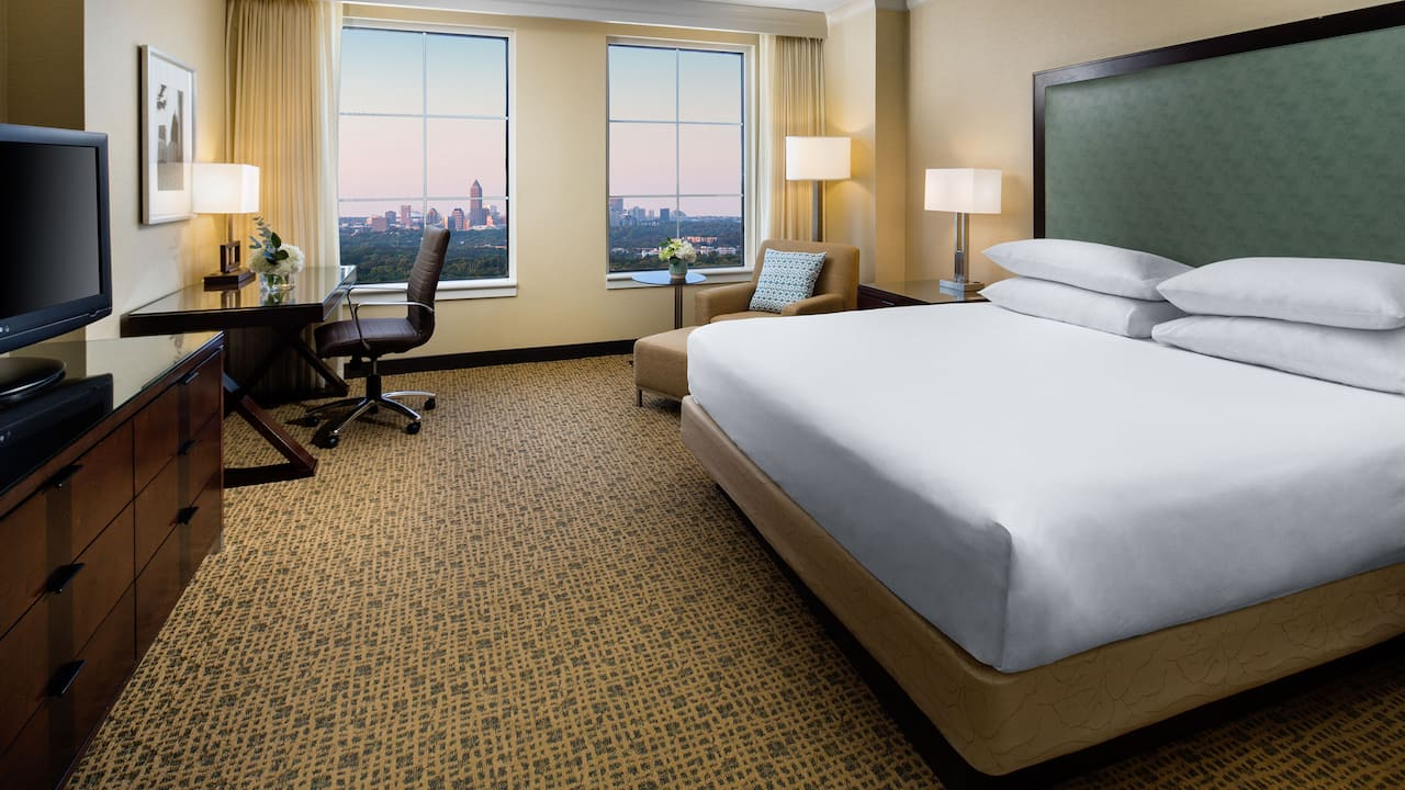 King bed city view Grand Hyatt Atlanta