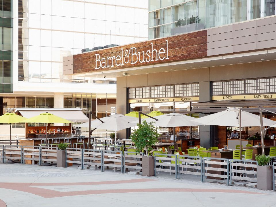 Barrel and Bushel patio view Hyatt Regency Tysons Corner Center