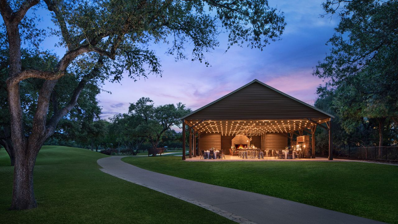 Luckenbach Pavilion Night Hyatt Regency Hill Country Resort & Spa