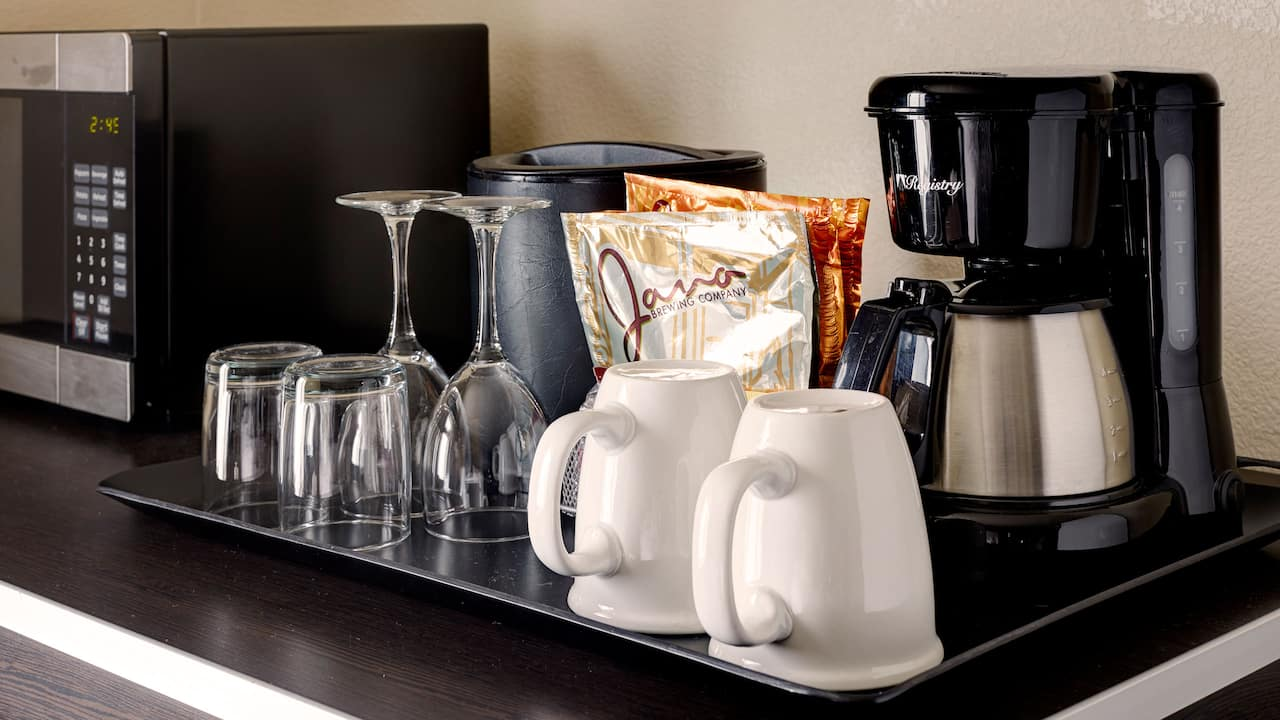 In-Room Coffee Station – Hyatt House Hotel Seattle/Bellevue