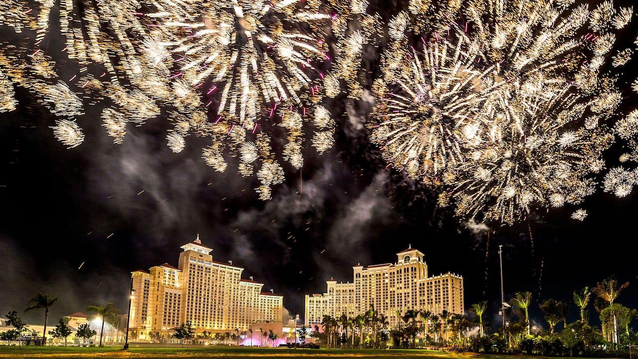 Fireworks at Grand Hyatt Baha Mar