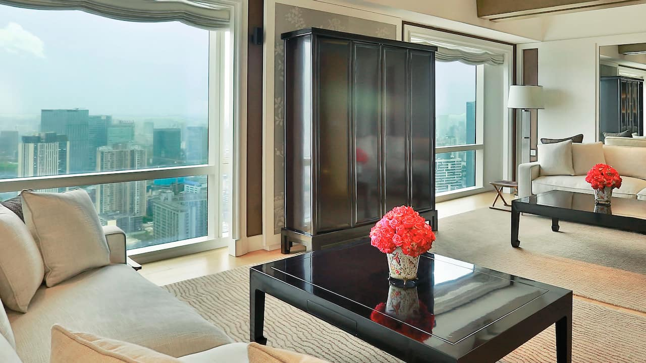 Grand Hyatt Chengdu Presidential Suite Drawing Room
