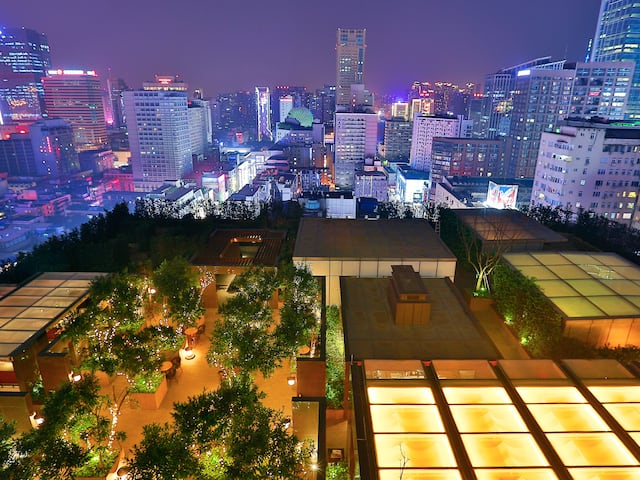 Grand Hyatt Chengdu Garden at Night