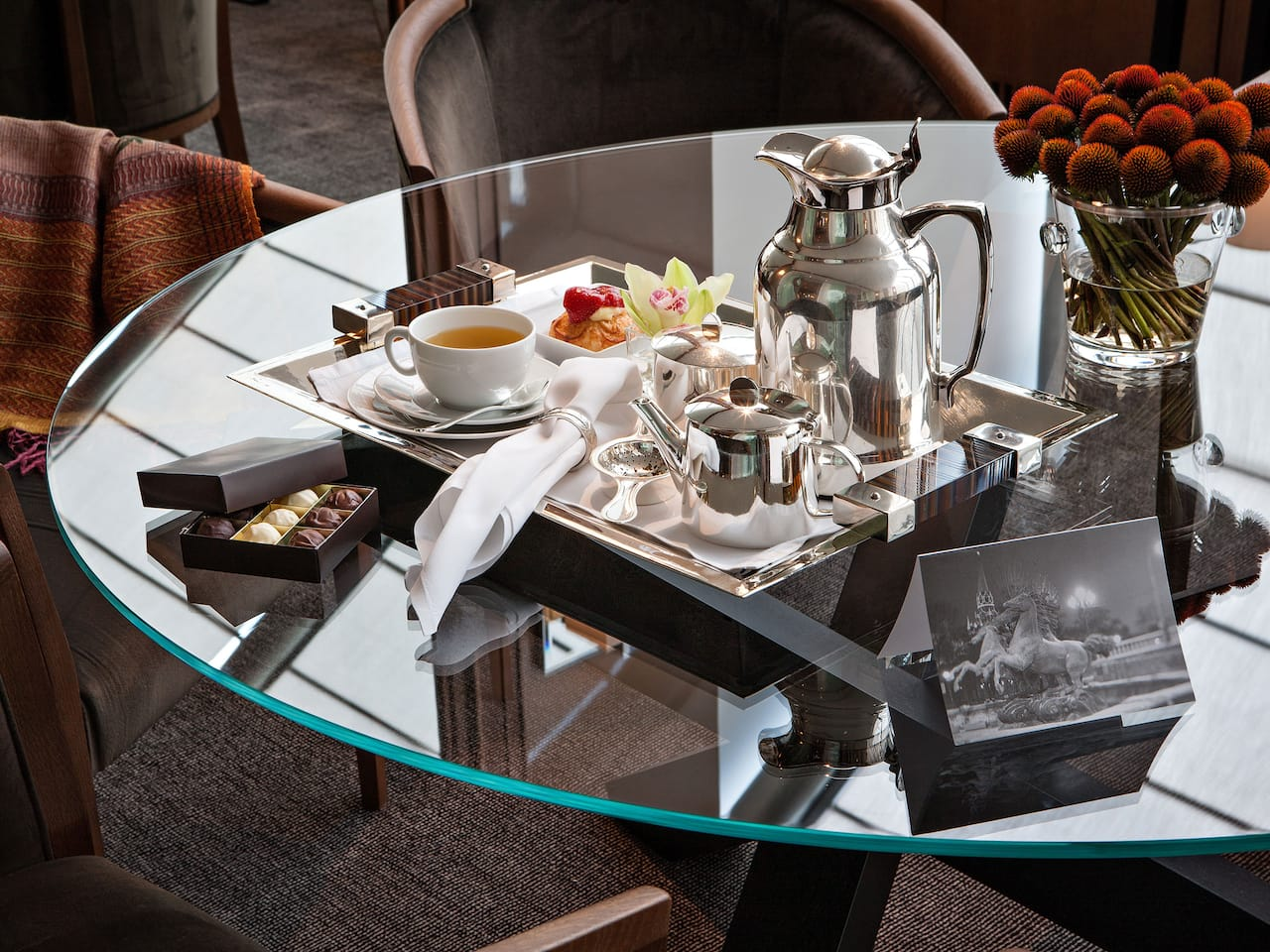 Room service in a luxury hotel in Moscow