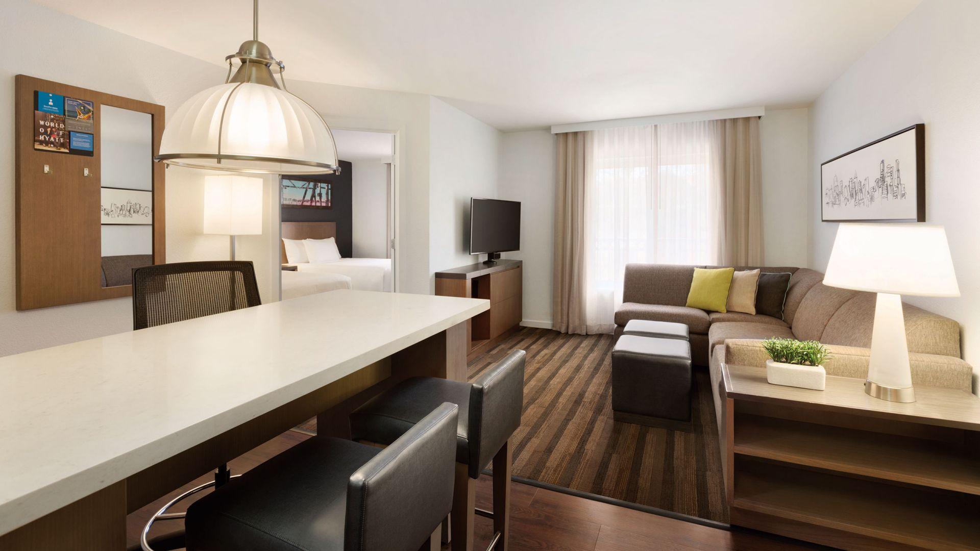 One Bedroom Double Suite Living Area