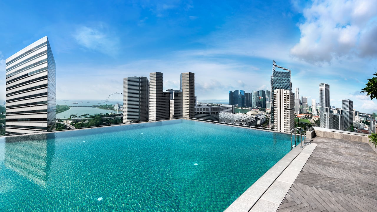 Rooftop pool at The Andaz Singapore Hotel
