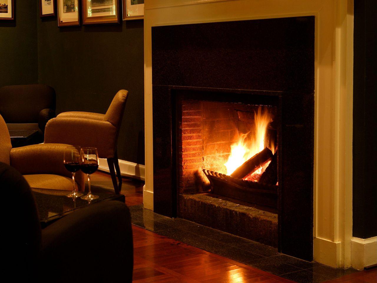 Speakers Corner Bar Fireplace