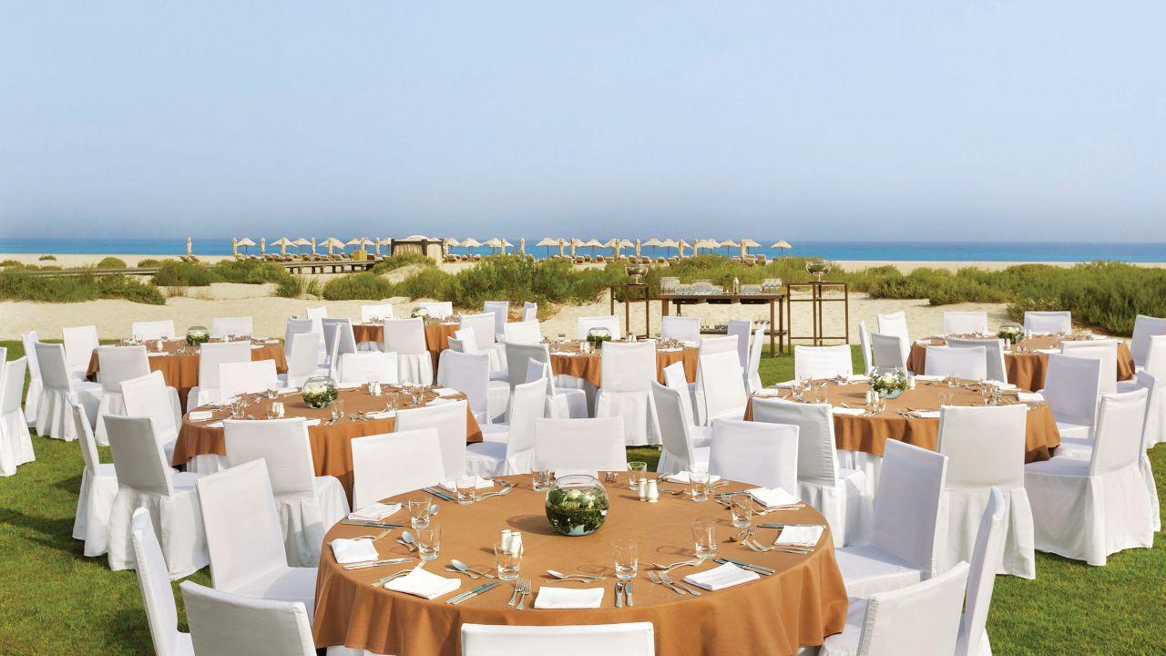 Beach Lawn Banquet Setup
